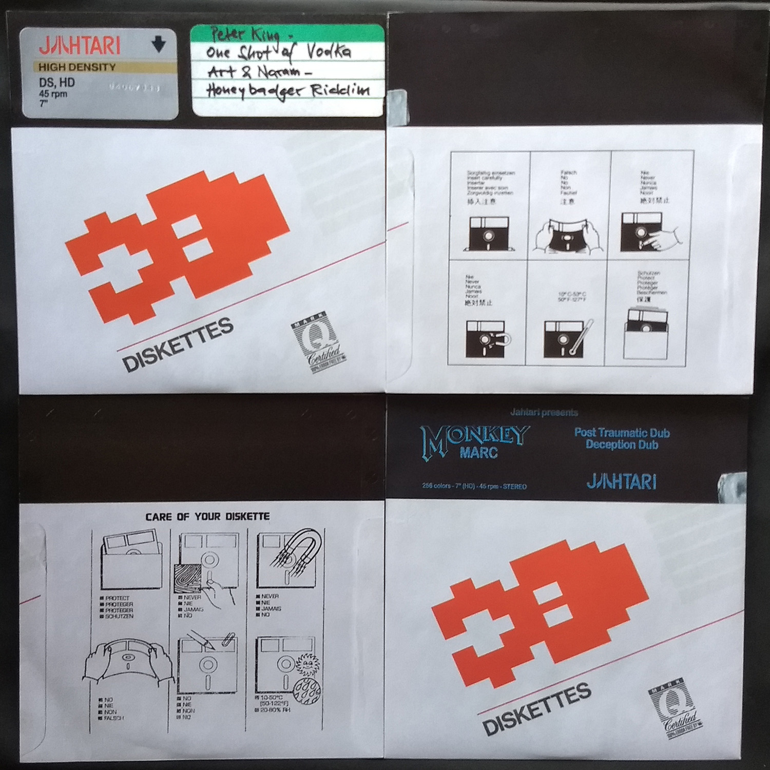 new Jahtari 7″ floppy discs out – LOAD….
