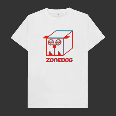 Zonedog T-Shirt (white) with 3D glasses