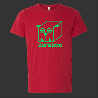Zonedog T-Shirt (red / green) with 3D glasses